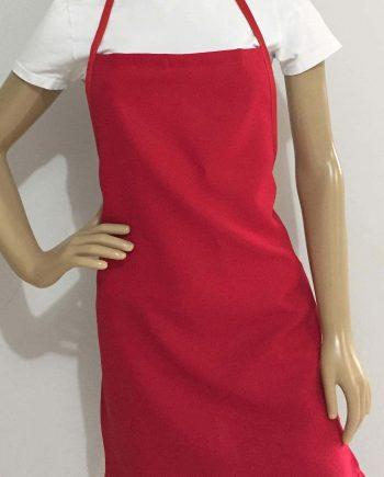 Baby Look de malha PV ou de 100% Algodão, cor branca. Avental Modelo só frente de tecido de Oxford cor vermelho. Várias Cores. Bordados Personalizados ou Silk Screen.
