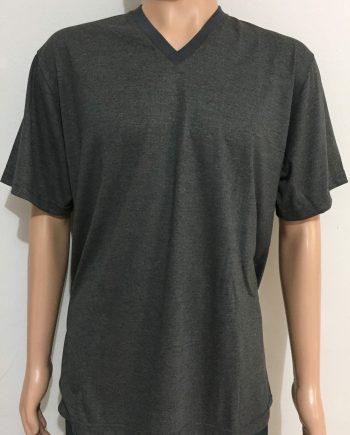 Camiseta malha com gola em V